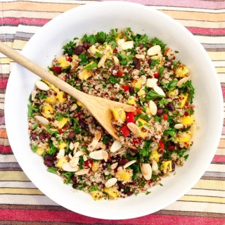 Clean-eating Mango Quinoa Salad