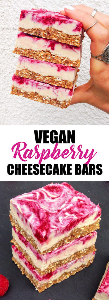 You won't believe how easy it is to make these vegan raspberry cheesecake bars! They're healthy and made with all natural ingredients!