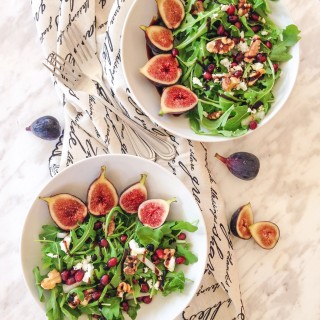 Fig and Arugula Salad with Balsamic reduction