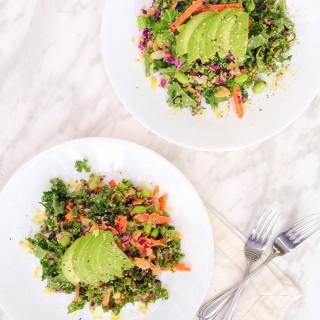 Asian Kale Salad with Peanut Dressing