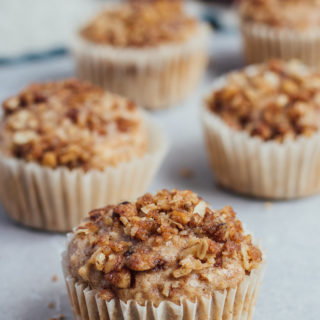 Vegan Apple Crumb Muffins