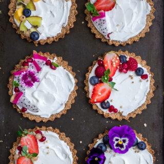 Breakfast pecan granola tarts