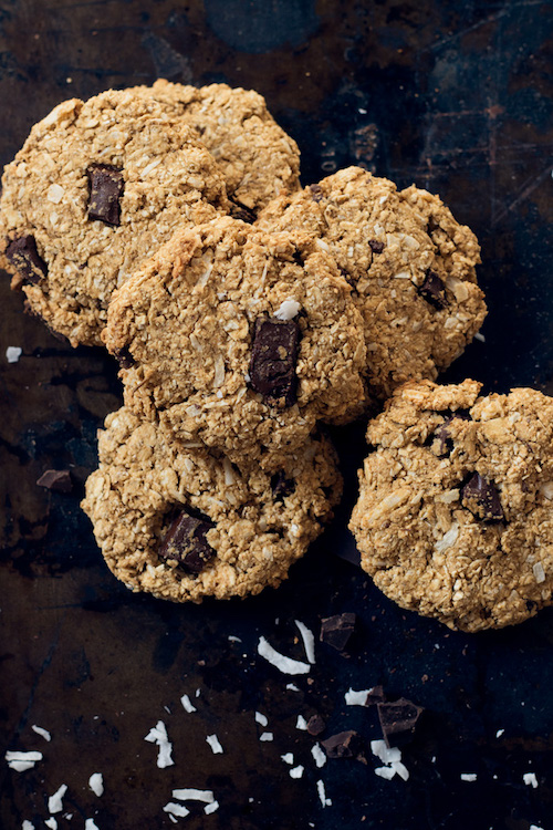 chocolate chunk peanut butter oatmeal cookies