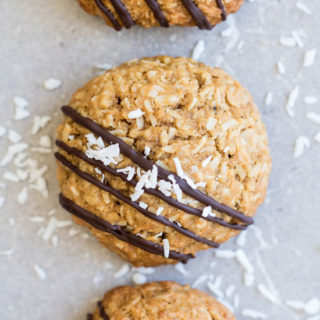 Triple coconut oatmeal cookies