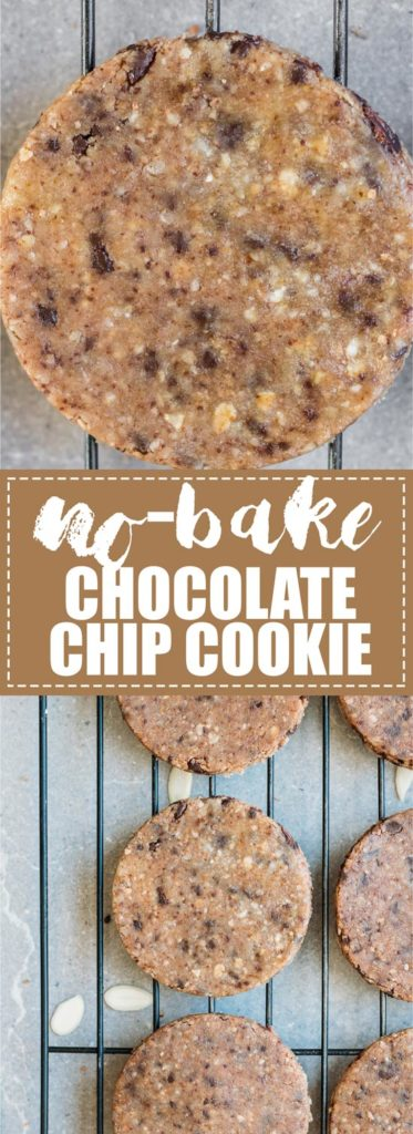 These no-bake chocolate chip cookies are a healthy and delicious snack. They're made with healthy ingredients like almond flour, oats, and almond butter