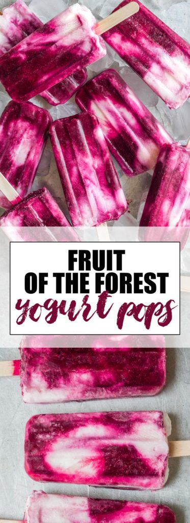 choosingchia.com| These fruit of the forest yogurt pops only need a handful of ingredients and only take 10 minutes to put together! Make this healthy treat today!