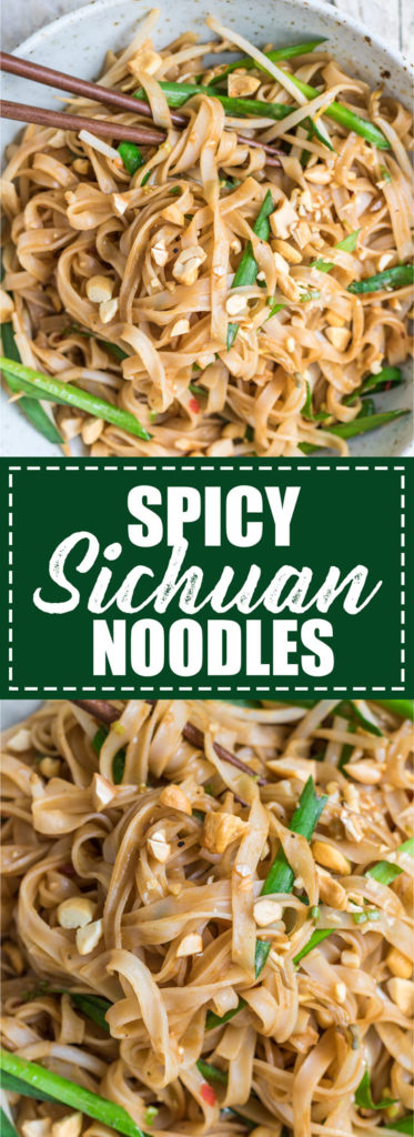 Choosingchia.com  These spicy sichuan noodles come together in less than 15 minutes! You'll love this quick and easy dish!