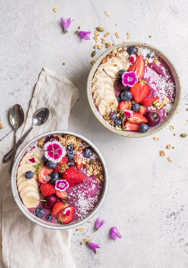 blueberry acai bowls