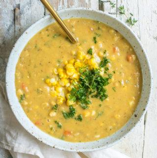 Farmer's market corn chowder