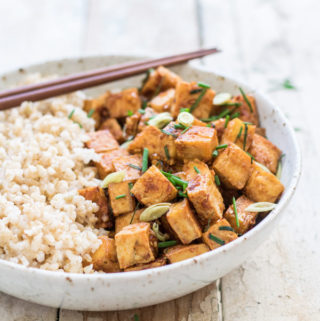 15 minute lemongrass tofu