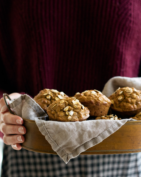 healthy pumpkin spice muffins
