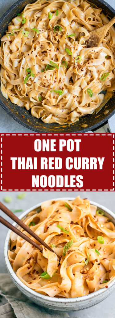 Choosingchia.com| These one pot Thai red curry only take 15 minutes to make! You'll love this quick and easy dinner that is also vegan and gluten-free!