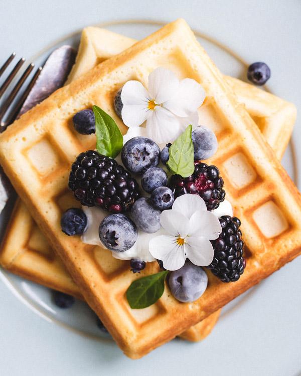 healthier Belgium waffles